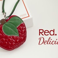 red delicious coin wristlet