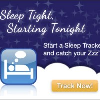 sleep tracker ad graphic design