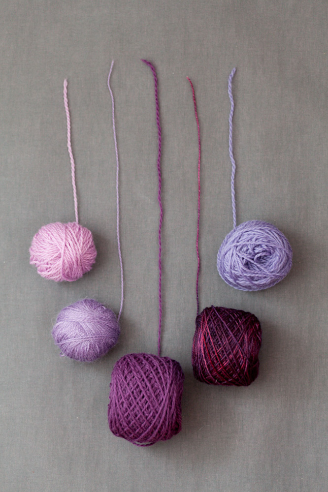 purple yarn layout