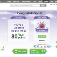 diabetes health quiz graphic design
