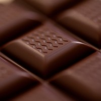 chocolate bar macro closeup