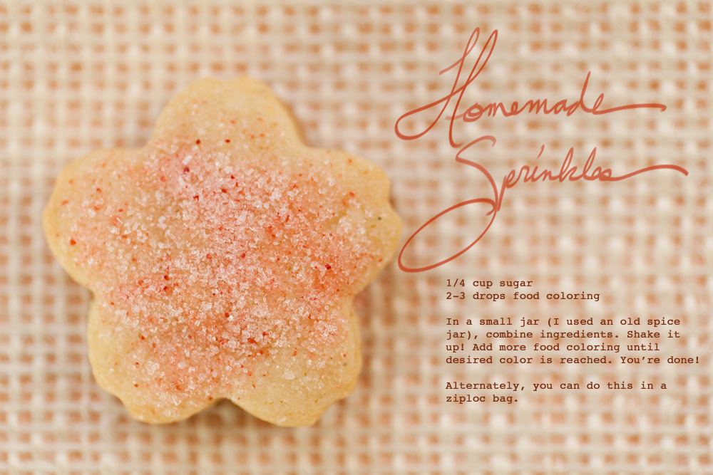 Sakura sugar cookie sprinkles