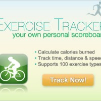 exercise tracker ad graphic design
